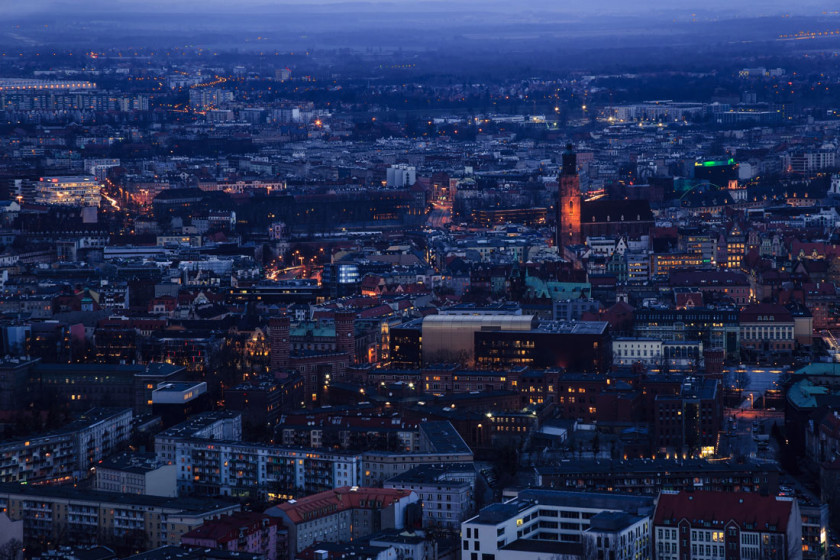 Wrocław po zmroku